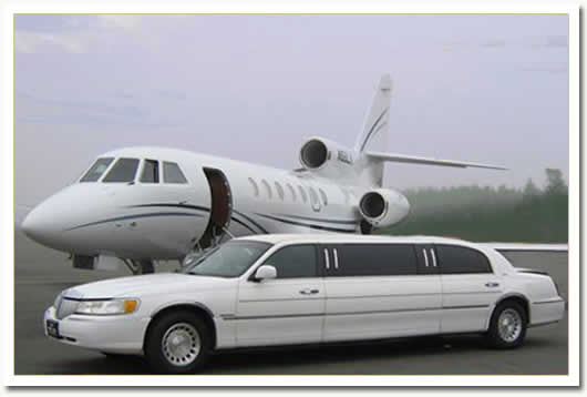 Photograph of Limo and Plane